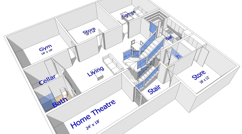 Buy our 3 level steel frame home 3d floor plan next for Purchase floor plan