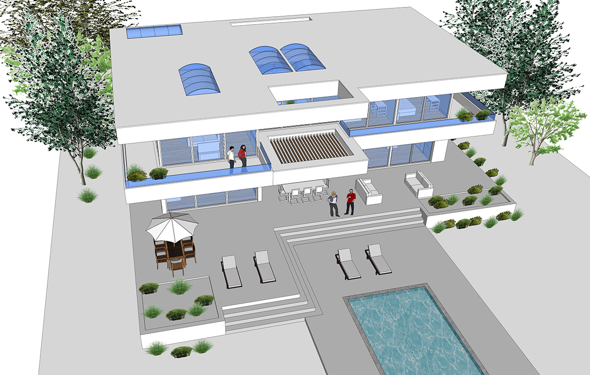 Buy our 3 level beverly hills dream house 3d floor plan for Dream house 3d