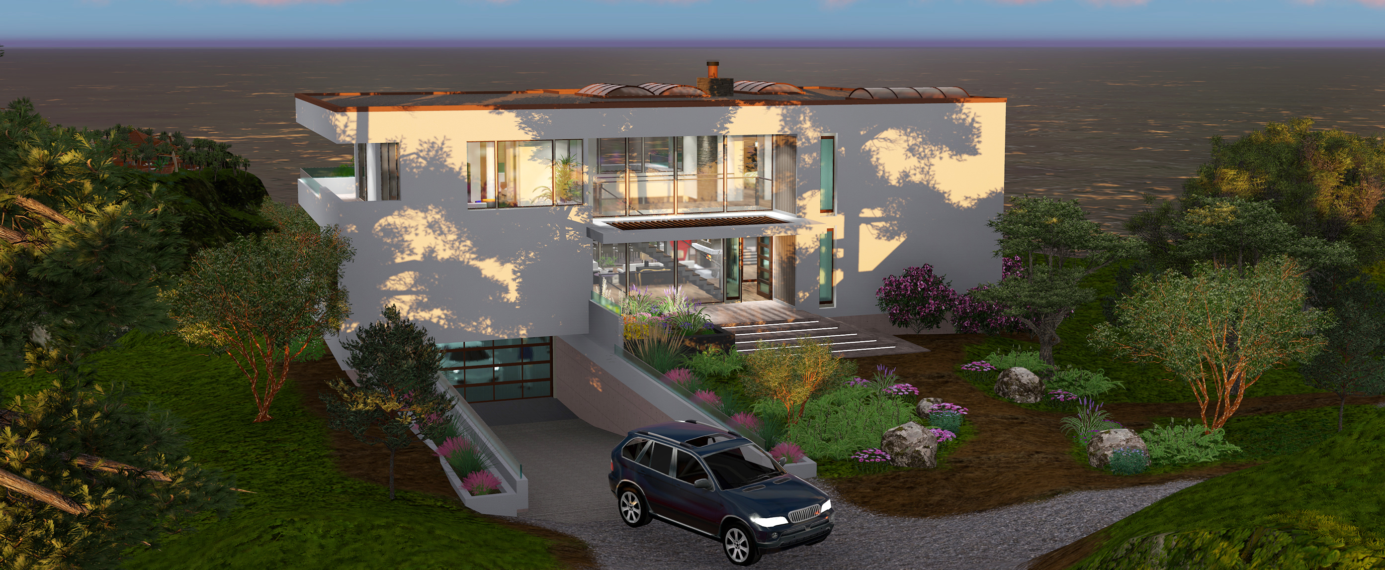Buy our 3 level beverly hills dream house 3d floor plan for 3 level homes