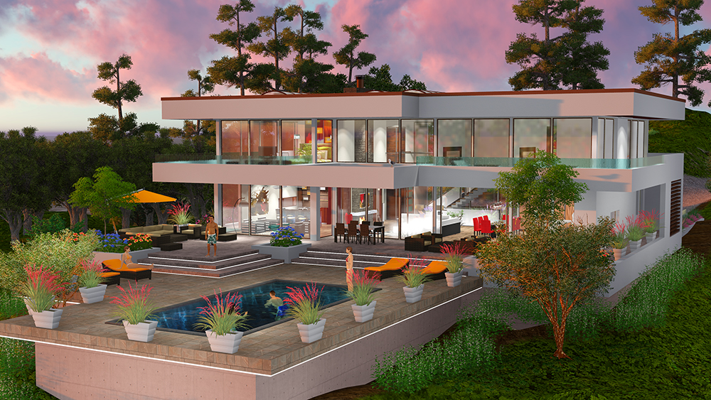 The beverly hills dream house project maintains the for Project home designs