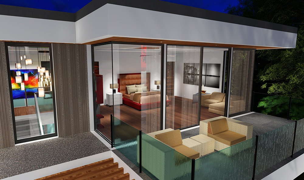Two Story Modern Glass Home Design Next Generation