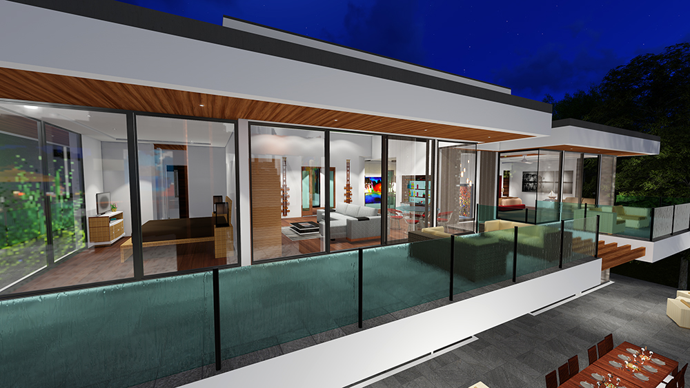 BUY Our 2 Level Modern Glass Home 3D Floor Plan | Next