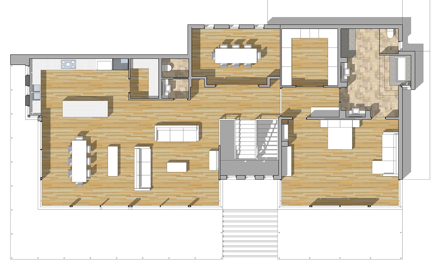 buy our 2 level modern glass home 3d floor plan next generation