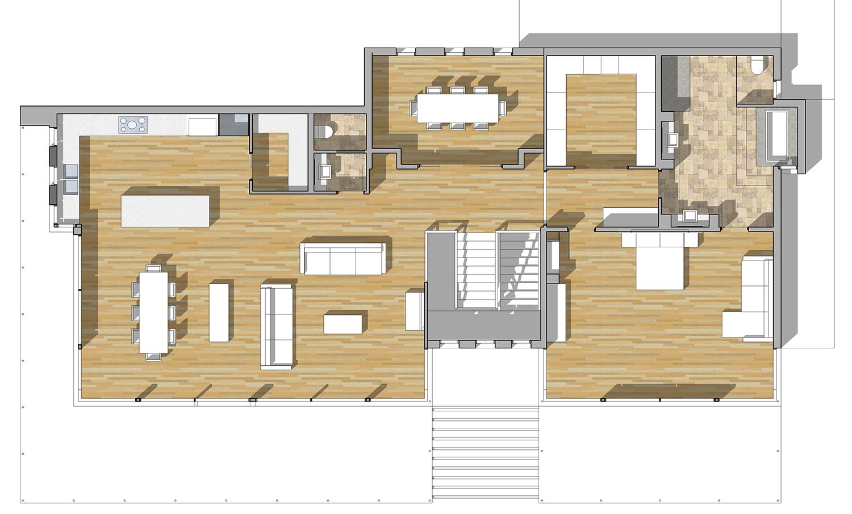 Buy Our 2 Level Modern Glass Home 3d Floor Plan Next