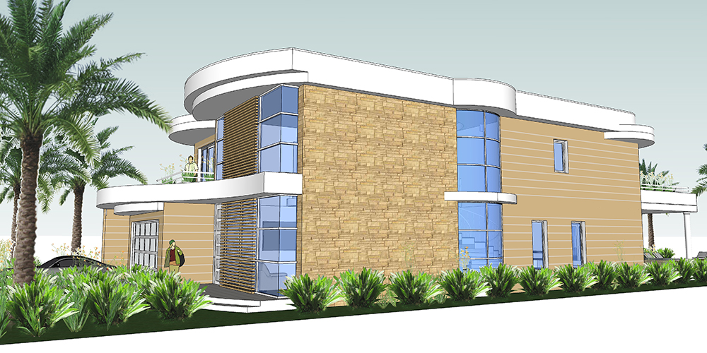 Luxury dream house on narrow lot house plans next for Narrow lot home designs sydney