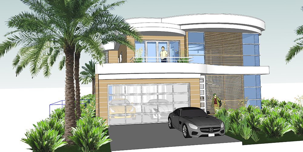 Luxury dream house on narrow lot house plans next for Narrow lot luxury house plans