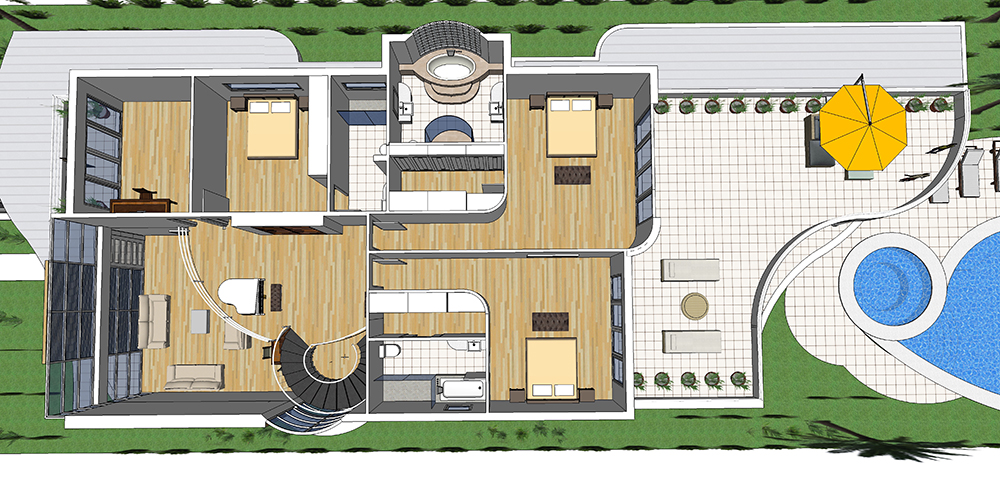 Luxury Dream House On Narrow Lot House Plans | Next Generation