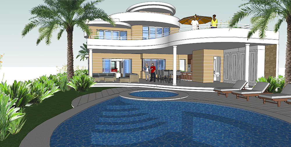 Buy Our Luxury Dream House On Narrow Lot 3d Floor Plan
