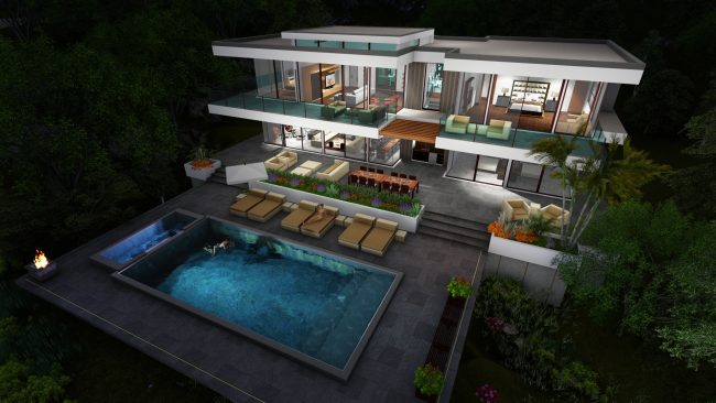 Two Story Modern Glass Home Design Gallery Next Gen