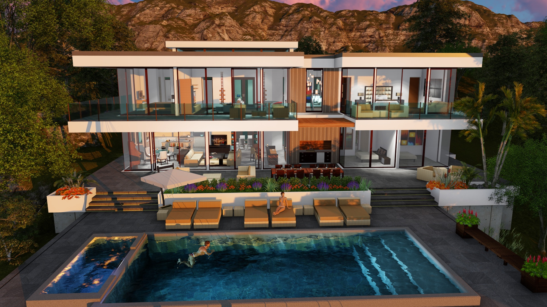 TWO STORY MODERN GLASS HOME DESIGN - Gallery - Next Gen ... on Modern Glass House  id=82497