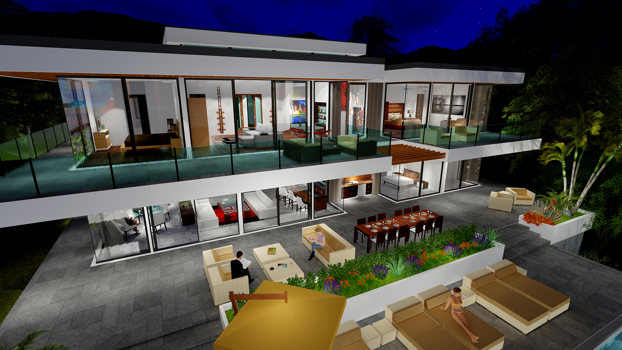 TWO STORY MODERN GLASS HOME DESIGN - Gallery - Next Gen ...