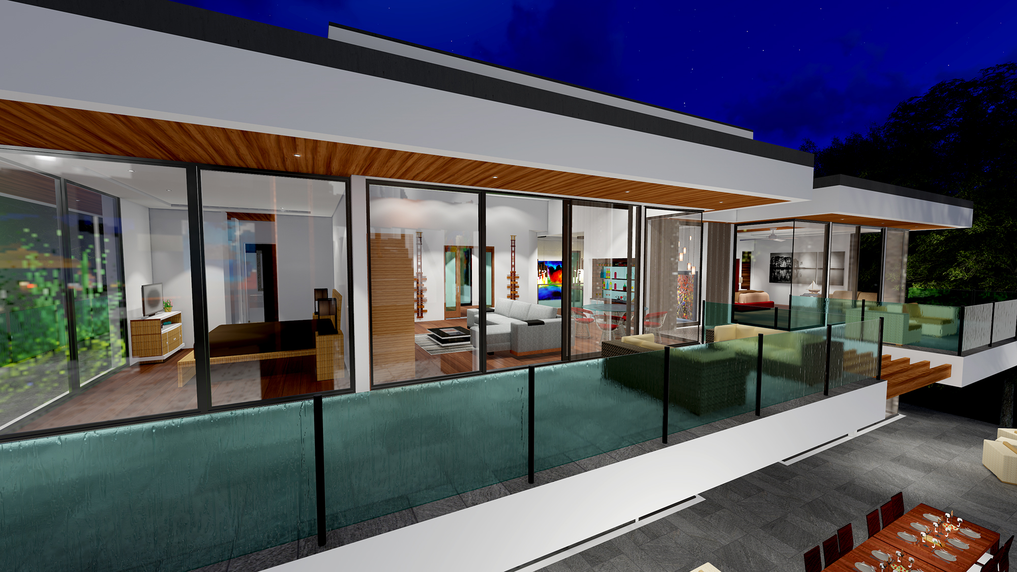 TWO STORY MODERN GLASS HOME DESIGN – Gallery – Next Generation ...
