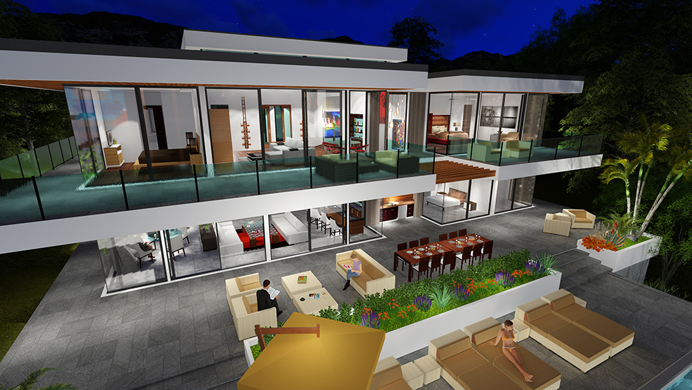 TWO STORY MODERN GLASS HOME DESIGN - Gallery | Next ... on Glass House Design Ideas  id=80811