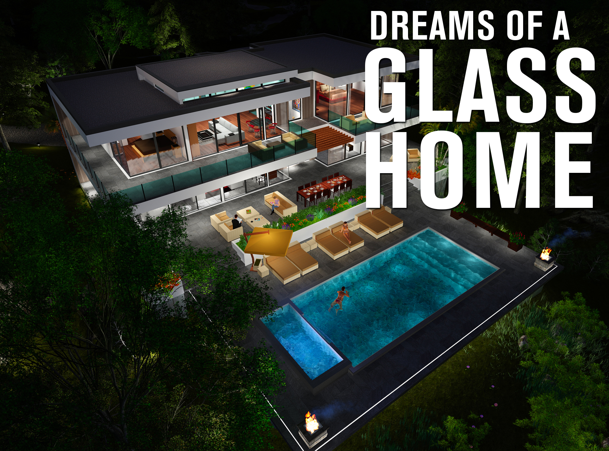 glass house dreams2 - Download Modern Small Glass House Designs Background
