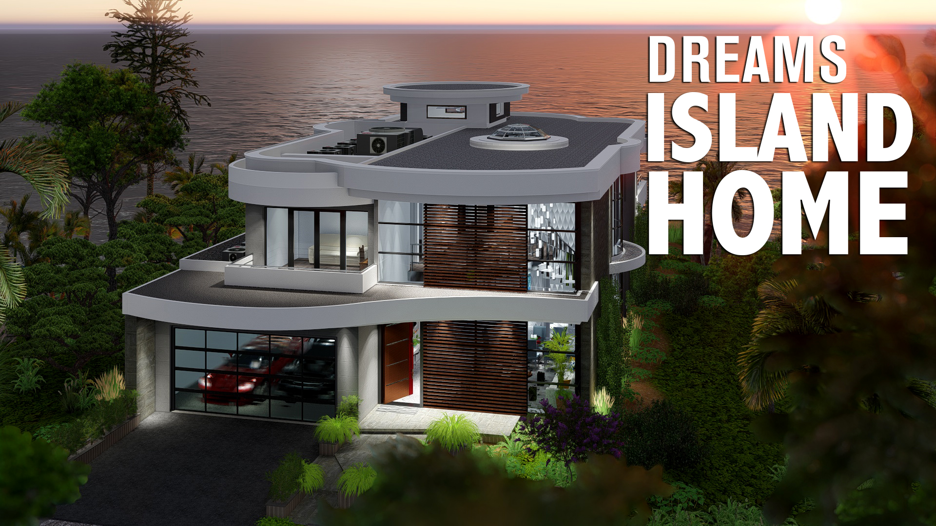 island dream house  - Get Small Modern Tropical House Design  Background